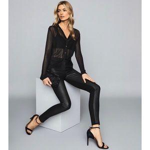 Reiss VALERIE Leather Leggings